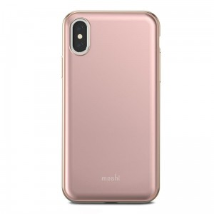 "Etui do iPhone X/XS (5.8"") Moshi Iglaze [różowy]"