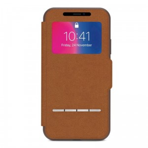 "Etui do iPhone X/XS (5.8"") Moshi Sensecover [brązowy]"