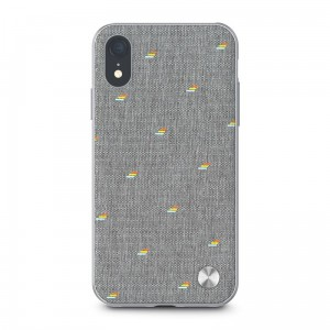 Etui do iPhone XR Moshi Vesta [jasno szary]