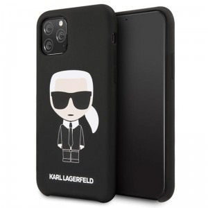 Etui do iPhone 11 Pro Karl Lagerfeld Fullbody Silicone Iconic [czarny]
