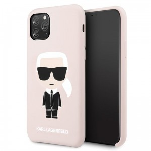 Etui do iPhone 11 Pro Karl Lagerfeld Fullbody Silicone Iconic [różowy]