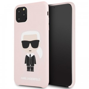 Etui do iPhone 11 Pro Max Karl Lagerfeld Fullbody Silicone Iconic [różowy]