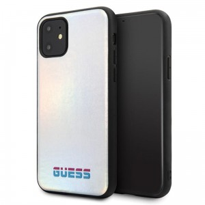 Etui do iPhone 11 Guess Iridescent [srebne]