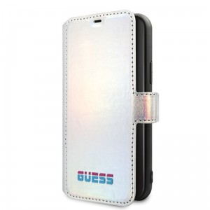 Etui do iPhone 11 Pro Guess Iridescent BookType [srebne]