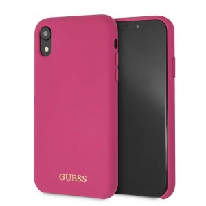 Etui do iPhone XR Guess Silicone [różowy]