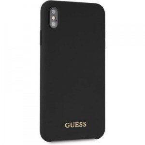 "Etui do iPhone XS MAX (6.5"") Guess Silicone [czarny]"