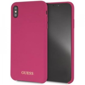 "Etui do iPhone XS MAX (6.5"") Guess Silicone [różowy]"