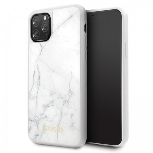 Etui do iPhone 11 Pro Guess Marble [biały]