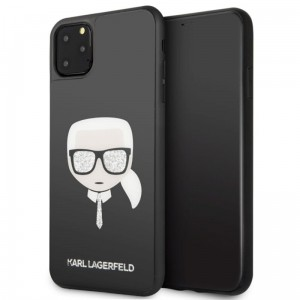Etui do iPhone 11 Pro Max Karl Lagerfeld Double Layers Glitter Head [czarny]
