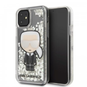 Etui do iPhone 11 Karl Lagerfeld Glitter Glowdark Ikonik