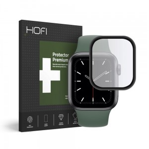 Szkło hybrydowe do Apple Watch 4/5/6/SE (44mm) Hofi Glass [czarne]