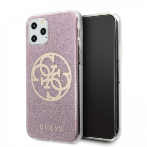 Etui do iPhone 11 Pro Guess Circle Glitter 4G [różowy]