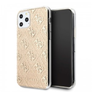Etui do iPhone 11 Pro Max Guess 4G Glitter [złoty]