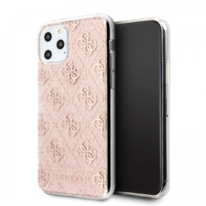 Etui do iPhone 11 Pro Max Guess 4G Glitter [różowy]