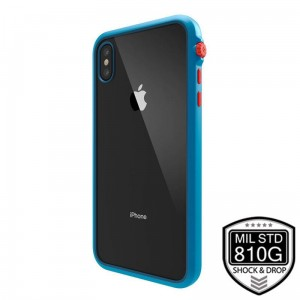 "Etui do iPhone XS MAX (6.5"") Catalyst Impact Protection Case [niebieski, pancerny ze smyczką]"