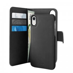 Etui do iPhone XR Puro Wallet Detachable z klapką 2w1 [czarny]