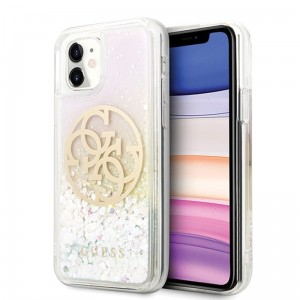 Etui do iPhone 11 Guess Gradient Liquid Glitter Circle Logo
