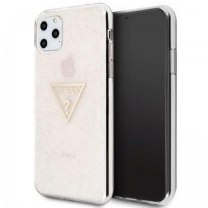 Etui do iPhone 11 Pro Max Guess Solid Glitter Triangle [różowy]