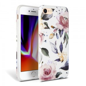 Etui do iPhone 7/8/SE 2020 Tech-Protect Floral [biały]