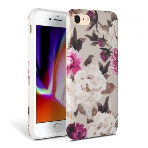 Etui do iPhone 7/8/SE 2020 Tech-Protect Floral [beżowy]