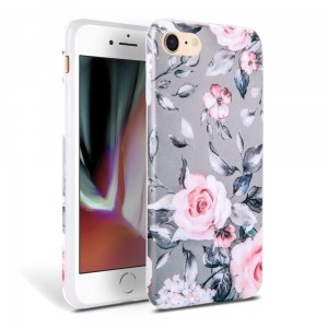 Etui do iPhone 7/8/SE 2020 Tech-Protect Floral [szary]
