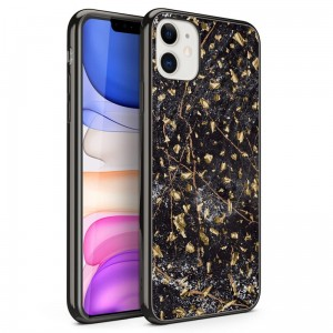Etui do iPhone 11 Zizo Refine [czarny marmur]
