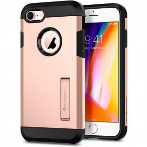 "Etui pancerne do iPhone 7/8 (4.7"") Spigen Tough Armor 2 [różowe złoto]"