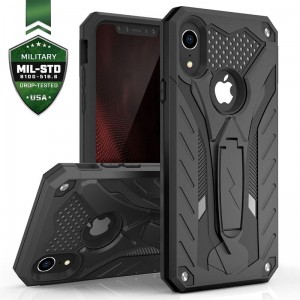 Etui do iPhone XR Zizo Static Cover [czarny] pancerne