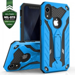 Etui do iPhone XR Zizo Static Cover [niebiesko-czarny] pancerne