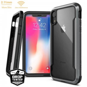 Etui do iPhone XR X-Doria Defense Shield [czarny]