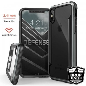 "Etui do iPhone X/XS (5.8"") X-Doria Defense Shield [czarny]"