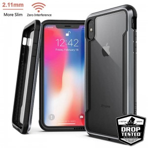 "Etui do iPhone XS MAX (6.5"") X-Doria Defense Shield [czarny]"