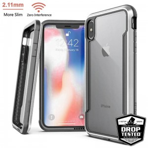 "Etui do iPhone XS MAX (6.5"") X-Doria Defense Shield [srebny]"