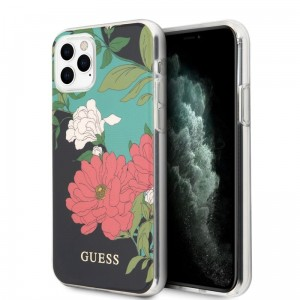 Etui do iPhone 11 Pro Max Guess Flower Shiny Collection N1 [czarny]