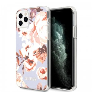 Etui do iPhone 11 Pro Max Guess Flower Shiny Collection N2 [liliowy]