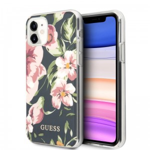 Etui do iPhone 11 Guess Flower Shiny Collection N3 [navy]