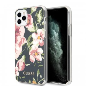 Etui do iPhone 11 Pro Max Guess Flower Shiny Collection N3 [navy]