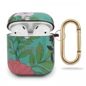 Etui - Case - Futerał do słuchawek Apple AirPods 1/2 - Guess Flower Colletion N1 [zielony]