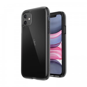 Etui do iPhone 11 Speck Presidio Perfect Clear z powłoką Microban [Obsidian]