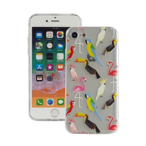 "Fashion Case Print Back [Colorful Birds], Etui silikonowe na iPhone 7/8 (4.7"")"