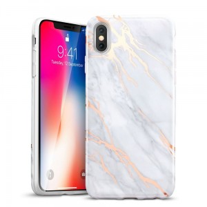 "Etui do iPhone X /XS(5.8"") ESR Marble Case [szare],"