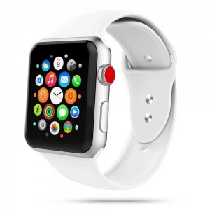 Pasek do Apple Watch 1/2/3/4/5/6 (38/40 mm) Tech-Protect IconBand [biały]