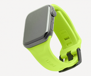 Pasek do Apple Watch 1/2/3/4/5/6/SE (42/44 mm) UAG Scout [neonowy zielony]