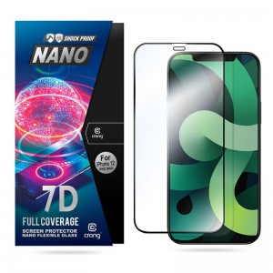 Szkło hybrydowe do iPhone 12 Pro Max Crong 7D Nano Flexible Glass