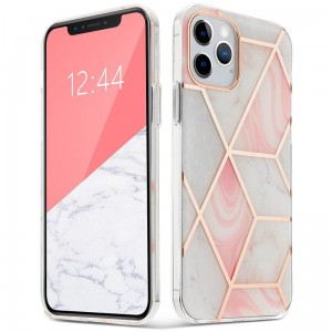 Etui do iPhone 12 Mini Tech-Protect Marble 2 [różowy]