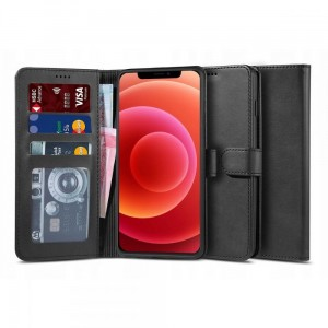 Etui do iPhone 12/12 Pro Tech-Protect Wallet 2 [czarny]