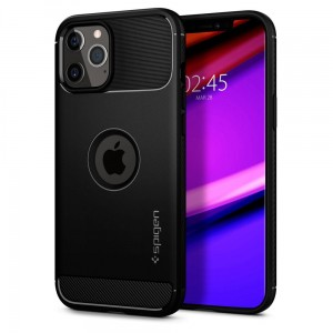 Etui do iPhone 12/12 Pro Spigen Rugged Armor [czarny]