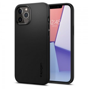 Etui do iPhone 12/12 Pro Spigen Thin Fit [czarny]