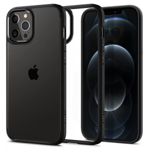 Etui do iPhone 12/12 Pro Spigen Ultra Hybrid [czarny mat]
