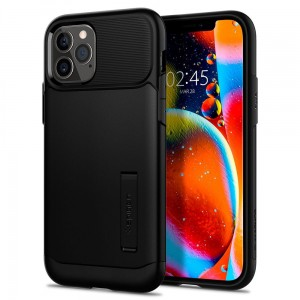 Etui do iPhone 12/12 Pro Spigen Slim Armor  [czarny]